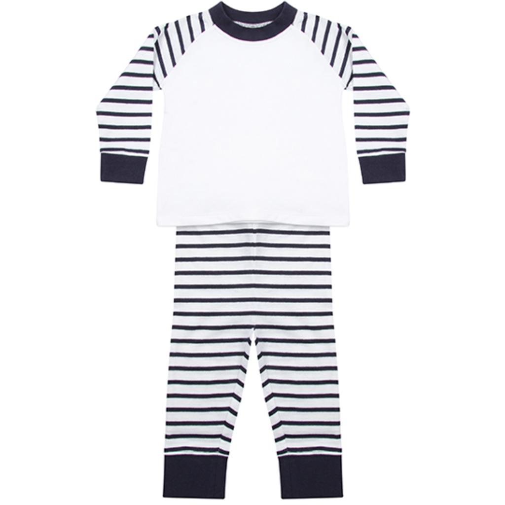 Navy Stripe-White