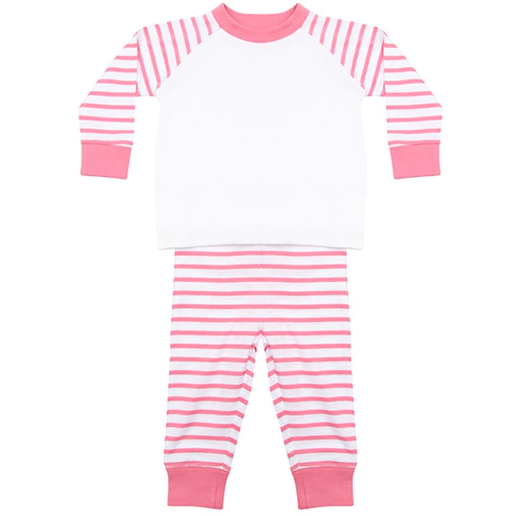 Pink Stripe-White